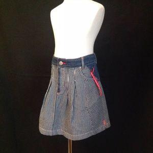 Oilily PIRATE denim stripe skirt skort 104 4 5 NWT